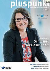 Cover vom pluspunkt 4/2018 zeigt ein Portrait von Sonja Leukefeld. Sie ist seit fünf Jahren Schulleiterin am Theodor-Heuss-Gymnasium in Waltrop.