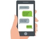 Illustration eines Handybildschirms mit Mobbing-Nachrichten.