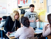 In der bilingualen Klasse unterrichten die zweisprachigen Lehrkräfte Bilge Yörenc und Ümit Eryilmaz im Team.